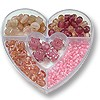 Bead Kit Heart Assorted Pinks (1-Pc)