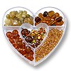 Bead Kit Heart Assorted Browns (1-Pc)