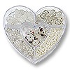 Bead Kit Heart Assorted Whites (1-Pc)