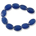 Blue Quartz Dyed Oval Beads 14x10mm (16
