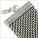 "Mesh Rope Bracelet 8"" Antique Silver Plated"