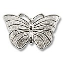 "Belt Buckle Blank Butterfly 4x2.6"" Silver Color (1-Pc)"