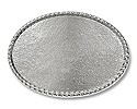"Belt Buckle Blank Oval Rope 4""x2.5"" Silver Color (1-Pc)"