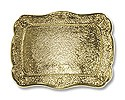 "Belt Buckle Blank Rectangle 3""x3.5"" Gold Plated (1-Pc)"