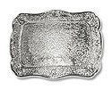 "Belt Buckle Blank Rectangle 3""x3.5"" Silver Color (1-Pc)"