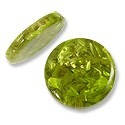 Laminated Crushed Abalone Bead Round Disc 25mm Green (1-Pc)