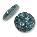 Laminated Crushed Abalone Bead Disc 25mm Light Turquoise (1-Pc)