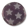 Czech Round Bead 17mm Amethyst Opal Etching Effect w/ Stars (1-Pc)