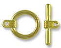 Clasp - Toggle 16mm Base Metal Gold Plated (1-Pc)