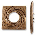 Toggle Clasp - 29x28mm Pewter Antique Copper Plated (Set)