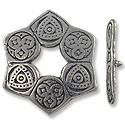 Toggle Clasp - 28mm Pewter Antique Silver Plated (Set)