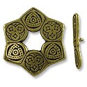 Toggle Clasp - 28mm Pewter Antique Brass Plated (Set)