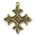 Charm - Cross 18mm Antique Brass Plated (1-Pc)