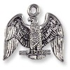 Charm - American Eagle 17x20mm Pewter Antique Silver Plated (1-Pc)