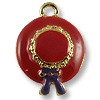 Charm - Red Hat 22x16mm Pewter Antique Gold Plated (1-Pc)