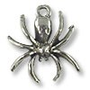 Charm - Spider 17x15mm Pewter Antique Silver Plated (1-Pc)