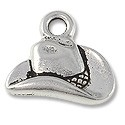 Charm - Cowboy Hat 14x16mm Pewter Antique Silver Plated (1-Pc)