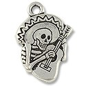 Charm - Guitarra 23x16mm Pewter Antique Silver Plated (1-Pc)