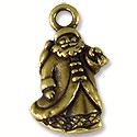 Charm - Saint Nick 22x12mm Pewter Antique Brass Plated (1-Pc)