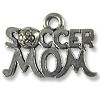 Soccer Mom Charm 13x19mm Pewter Antique Silver Plated (1-Pc)