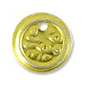 Egyptian Coin Charm 13mm Gold Color (10-Pcs)