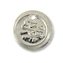 Egyptian Coin Charm 13mm Silver Color (10-Pcs)