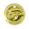 Egyptian Eye of Horus Charm 18mm Gold Color (10-Pcs)