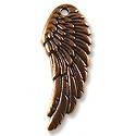 Wing Charm 27x10mm Pewter Antique Copper Plated (1-Pc)