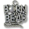 Charm - Born to Bead 17x17mm Pewter Antique Silver Plated (1-Pc)