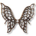 Connector - Filigree Butterfly 32x38mm Antique Copper (1-Pc)