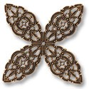 Connector - Filigree Clover 48mm Antique Copper Plated (1-Pc)