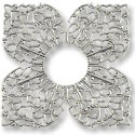 Connector - Filigree Clover 42mm Silver Plated (1-Pc)