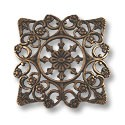 Connector - Filigree Square 28mm Antique Copper Plated (1-Pc)