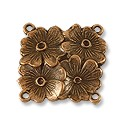 Connector - Floral 18mm Pewter Antique Copper Plated (1-Pc)