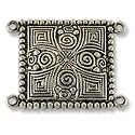 Connector - Ornate 20x26mm Pewter Antique Silver Plated (1-Pc)
