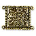 Connector - Ornate 20x26mm Pewter Antique Brass Plated (1-Pc)