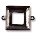 Square Ring Setting 2-Loop 20mm Pewter Gun Metal Plated (1-Pc)