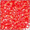 Miyuki Delica Seed Bead 11/0 Silver Lined Red Orange (3 Gram Tube)