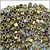 Miyuki Delica Seed Bead Hex Cut 11/0 Metallic Nickel Plated AB (3 Gram Tube)