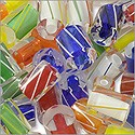 Cane Glass Beads - Primary Colors Mix (Ounce)