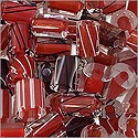 Cane Glass Beads - Red Mix (Ounce)