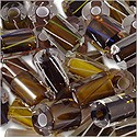 Cane Glass Beads - Brown Mix (Ounce)