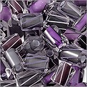 Cane Glass Beads - Purple and Grey Mix (Ounce)