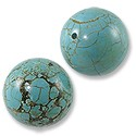 Dyed Howlite Turquoise Beads 20mm (2-Pcs)