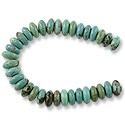 "Dyed Howlite Turquoise Rondelle Beads 8x3m (16"" Strand)"