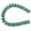 Dyed Howlite Turquoise Rondelle Beads 8x5mm (16
