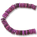 "Dyed Howlite Purple Heishi 8mm (16"" Strand)"