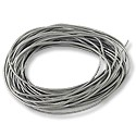 Leather Cord 1mm Silver (15 Foot Pack)