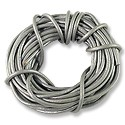Leather Cord 2mm Silver (15 Foot Pack)
