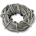 Leather Cord 2mm Silver (30 Foot Pack)
